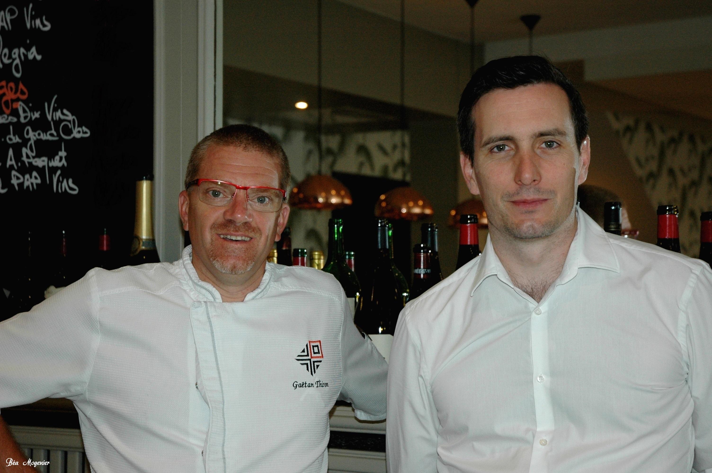 Un duo soudé et complémentaire : le Chef Gaëtan Thiron et Benjamais Marais manager